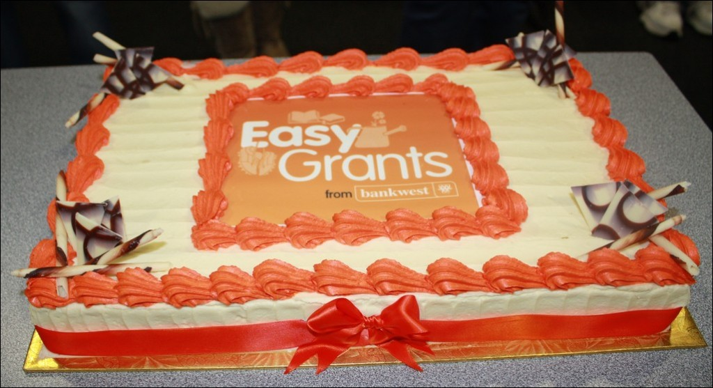 Click on cake for link to Bank West Easy Grants