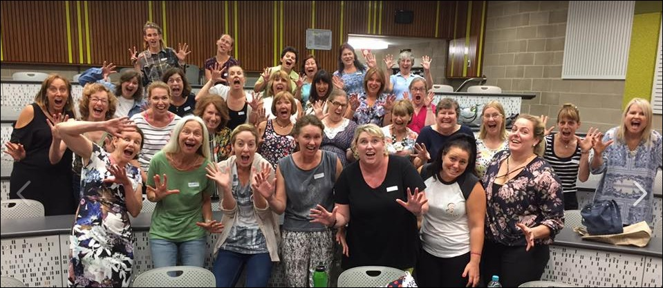 Vocal course ladies learn the ACW train wreck!